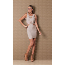 Vestido Midi Bandagem Maria Gueixa Ref 3660