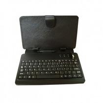Funda Con Teclado Tablet 9 Pulgadas Micro Usb Estilo Piel