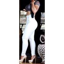 Calça Feminina Legging Branca Cintura Alta Estilo Montaria