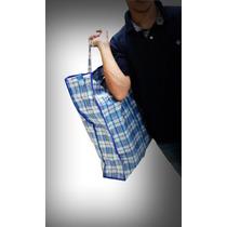2-sacola Feira Extra Gr Sacoleira C/ziper P/roupa Atacado
