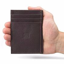 Porta Cartões Carteira Masculina Pequena Slim Couro Legítimo