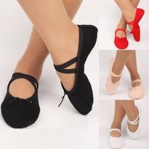 Zapatillas De Lona Para Ballet, Danza Y Modelaje