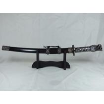 Espada Katana Samurai Ninja + Suporte Cabo Cabeça De Dragão