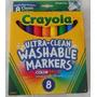 Crayola Canetinhas Laváveis- Caixa 8 Cores - Eua - Original