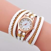 Lote De 10 Relojes Brazalete De Piel Fashion! Envio Gratis!