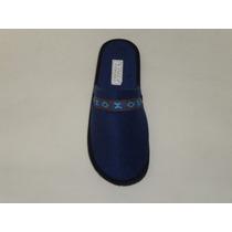 Pantuflas Azul Con Tira Rombo