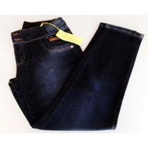 Calça Feminina Jeans Cós Alto Plus Size Tamanho All Denim