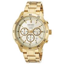 Reloj Seiko Sks526p1 Es Neo Sport Chronograph Gold-tone Ss