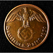 Moneda Alemania Nazi. 2 Reichspfennig 1939d.