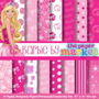 Kit Imprimible Pack Fondos Barbie 2 Clipart