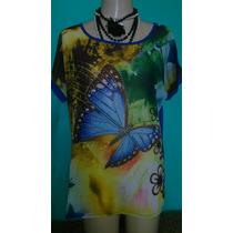 Camisa/blusa Chiffon Plus Size