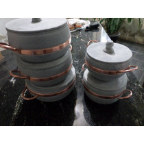 Kit De 5 Panelas 1l Ha 5l Pedra Sabão Direto Da Fabrica