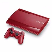 Playstation 3 Ps3 12gb Vermelho Super Slim Novo