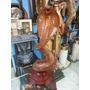 Escultura De Cobra Hindu Tallada En Madera Cedro Maciza