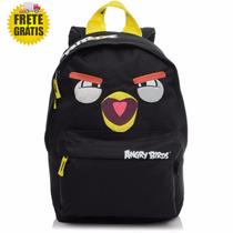 Mochila Angry Birds Nas Cores Vermelha E Amarela