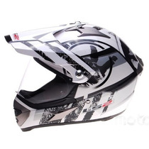 Casco Ls2 Mx433 Cross Con Visor Stripe With Devotobikes