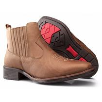 Bota Botina Feminina Country Texana Rodeio Couro Capeli Boot