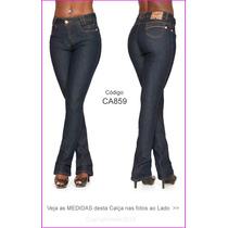 Flare Jeans Azul Pretas Delave Marinho Branca Cinza Hot 859