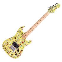 Guitarra Bob Esponja + Amp + Acessórios Sbe78fam - Kit