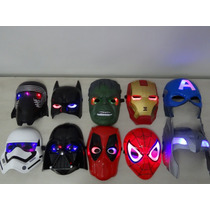 Mascara Com Led Marvel Super Herois Os Vingadores Avengers