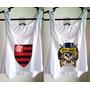 Kit 2 Blusas Femininas Flamengo Guns Roses Regata Cavada