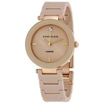 Reloj Anne Klein Diamond Cerámica Acero Mujer Ak/1018tngb
