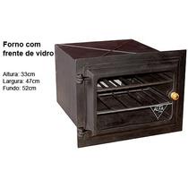 Forno Ferro Fundido Grande Vidro Fogão Lenha Churrasqueira