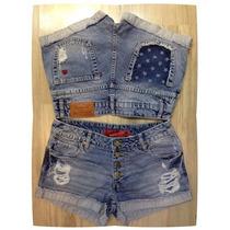 Shorts Jeans Botoes Aparecendo Revanche