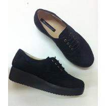 Zapato Para Mujer- Acordonado Con Plataforma