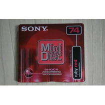 Mini Disc Md Sony 74 Color Collection - Ruby Red