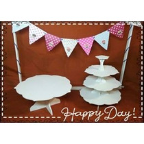 Candy Bar Torre Cupcakes Y Posa Torta Fibrofacil