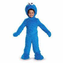 Plaza Sesamo Disfraz Niño Cookie Monster Traje De Lujo 3/4