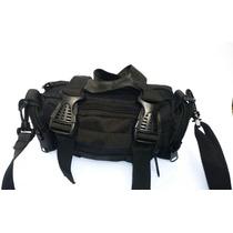 Cangurera Militar Táctica Color Negro