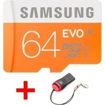Cartão Memória Samsung Micro Sdxc Evo 64gb 48mb/s Sd Sdxc