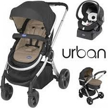Carrinho Bebe Travel System Urban Chicco Black + Color Pack