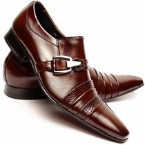 Sapato Social Masculino Em Couro Luxo Lançamento Inverno