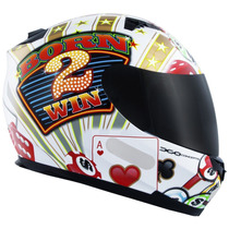 Capacete Mt Blade Casino Born 2 Win Onmoto Original