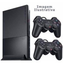 Playstation 2 Usado Destravado 2 Control 1 Memory Card 7 Jog