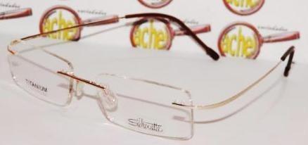 3a4b06a6ff3e3 Armação Para Oculos Grau Titanium Dourado Sem Aro Silhouette - R  79 ...