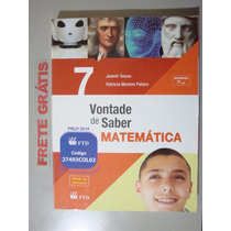 Livro Vontade De Saber Matemática 7º Ano