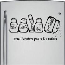 Vinilo Decorativo Condimentos Del Amor Refri