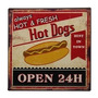 Placa Decorativa Hot Dogs
