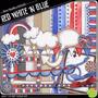 Kit Imprimible Fondos Azul Rojo Y Blanco Imagenes Clipart