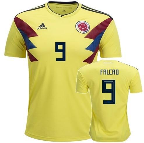 095907db71 Falcao   9 Colombia Home Soccer Jersey World Cup 2018 Camisa -   145.000 en Mercado  Libre