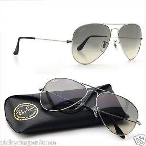 Óculos Ray-ban Aviador Prata Fume Degrade Original Unissex - R  155,00 em  Mercado Livre 168211695e