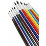 Pincel Artistico Artesanato Redondo Kit 12 Pçs - Tela Mdf