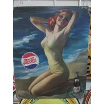 Pepsi Cola Play Cartel Metalico Vintage Retro Antiguo Poster