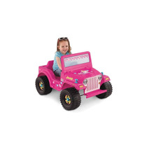 Jeep Barbie Rosa Pink Power Wheels Fisher Price Nuevo