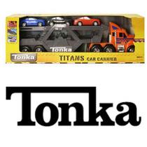 Tonka Transportadora Mega Grande Con 3 Carros Luces Y Sonido