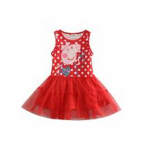 Vestido Disfraz Peppa Pig Nena Tull! T. 1 A 3 Años. Divino!